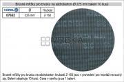Brusné mřížky pro brusku na sádrokarton průměr 225mm hrubost P-150, balení 10 kusů
