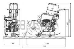 Spárová řezačka MIMAL PDM500 motor Honda GX390