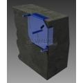 Nástroj pro stanovení výšky pokládaných obrubníků dlažby
