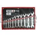 Klíče stranové sada 12 kusů 6-32mm CrV Yato YT-0381