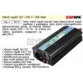 Měnič napětí 12V / 230 V / 300 Watt