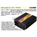 Měnič napětí 12V / 230 V / 700 Watt