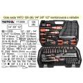 """Gola sada YATO 129 dílů 1/4"""" 3/8"""" 1/2"""" kombinovaná s nářadím YT-3888"""